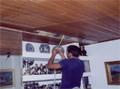 Εγκατάσταση ESWA. Οροφή με ξύλο ραμποτέ.